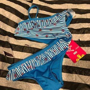 Pink platinum bikini swim suit